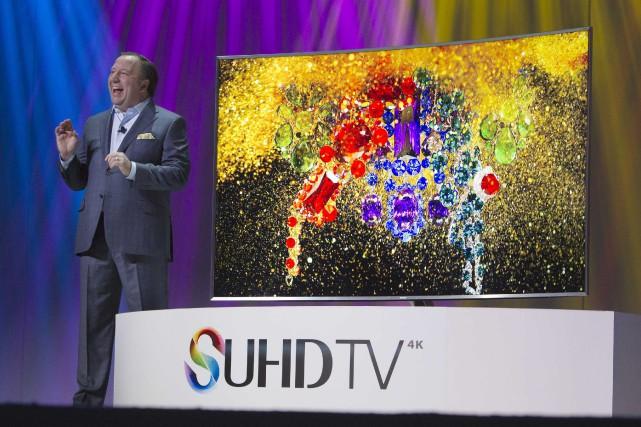 Les téléviseurs UHD, ou «4K», ont encore une... (PHOTO STEVE MARCUS, REUTERS)