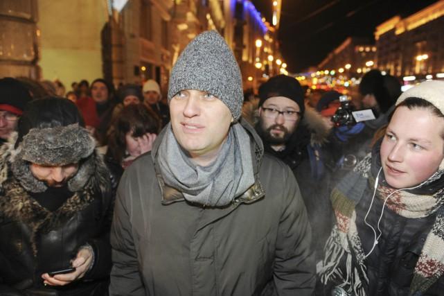 Navalny avait déjà bravé l'interdit, le soir de... (PHOTO ANTON BELITSKIY, ARCHIVES REUTERS)