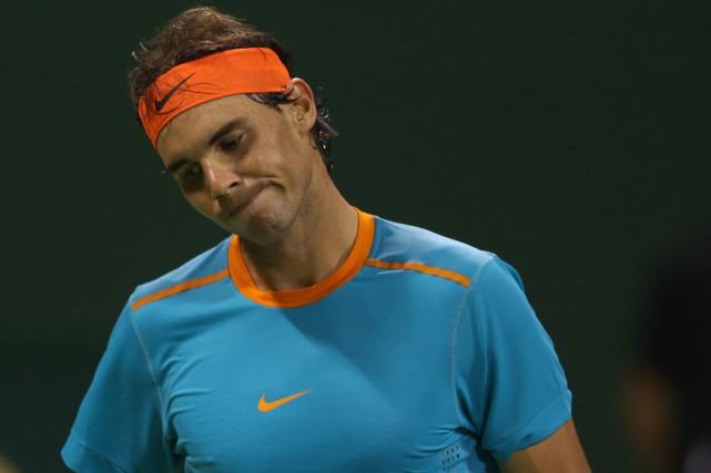 Rafael Nadala clairement souffert de son manque de... (Photo Karim Jaafar, AFP)