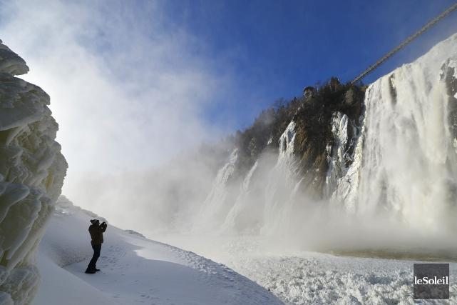 La chute Montmorency, près de Québec.... (Photo Yan Doublet, Le Soleil)