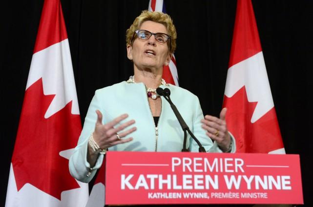 La première ministre de l'Ontario Kathleen Wynne... (Photo Frank Gunn, PC)