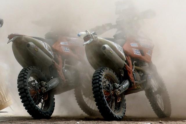 Le rallye Dakar 2015 a été endeuillé dès sa troisième étape, mardi, avec le... (Photo archives AFP)