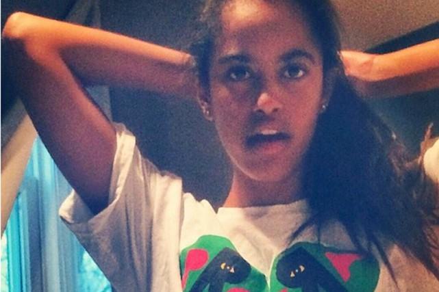 Une mystérieuse photo de Malia Obama, la fille aînée du président Barack Obama,... (Image tirée de Instagram)