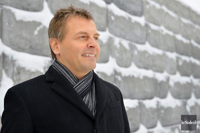 Le président de Béton Provincial, André Bélanger, entend... (Le Soleil, Yan Doublet)