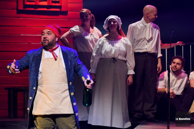 La troupe des Productions de la 42e Rue... (Photo: François Gervais Le Nouvelliste)