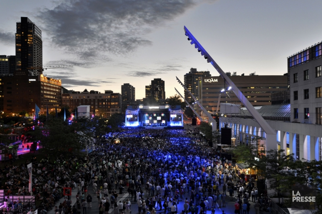 La place des Festivals, à Montréal.... (Photo Bernard Brault, archives La Presse)