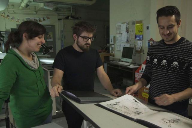 L'animateur Sebastien Diaz a rencontré les étudiants du... (Courtoisie, Télé-Québec)