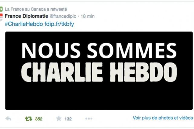 L'ambassade française a utilisé l'image largement diffusée sur...