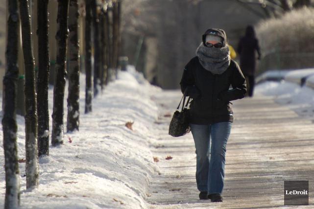 La Santé publique Ottawa (SPO) a émis un deuxième avis d'engelures en moins... (Martin Roy, LeDroit)