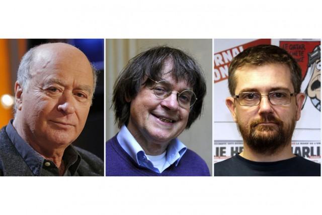 De gauche à droite:GeorgesWolinski en 2006, Jean Cabut,... (PHOTOS GUILLAUME BAPTISTE, BERTRAND GUAY, FRANCOIS GUILLOT / ARCHIVES AFP)