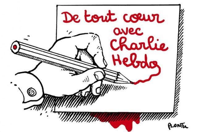 Quatre célèbres caricaturistes ont perdu la vie dans l'attentat commis au siège... (DESSIN PLANTU, LE MONDE)