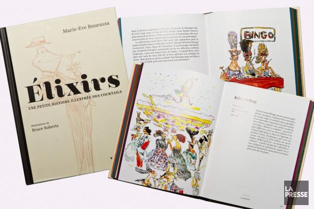 Les illustrations de Bruce Roberts apportent une touche... (Photos Hugo-Sébastien Aubert, La Presse)
