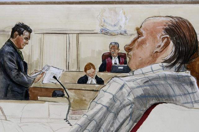 Avant que Robert Pickton ne soit arrêté pour... (Dessin FELICITY DON, Archives Reuters)