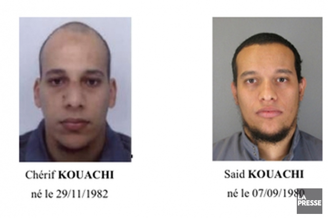 Les deux suspects sont Saïd Kouachi et Chérif... (Photo La Presse)