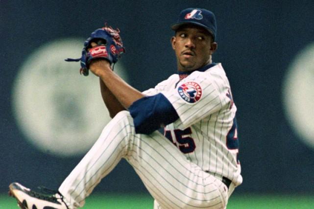 Pedro Martinez portant l'uniforme des Expos en 1997.... (Archives Reuters)