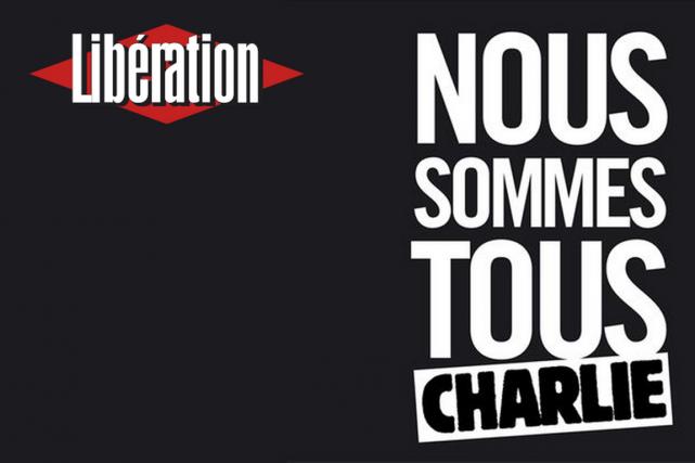 «Nous sommes tous Charlie», titre le quotidienLibération. La... (Photo tirée d'internet)