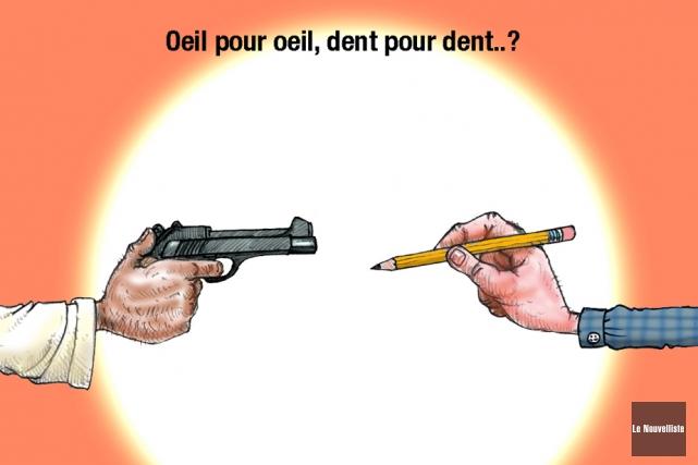 Les attentats perpétrés mercredi au journalCharlie Hebdode Paris, et... (Caricature de Jean Isabelle, Le Nouvelliste)