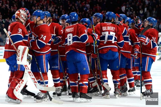La victoire contre les Canucks de Vancouver (3-1),... (Photo Bernard Brault, La Presse)
