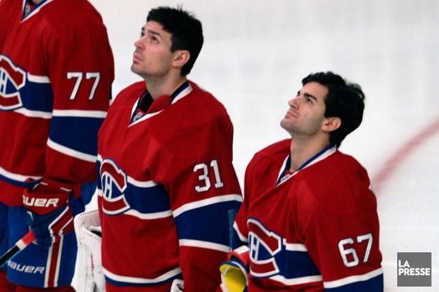 Carey Price et Max Pacioretty sont les deux... (Photo Bernard Brault, La Presse)