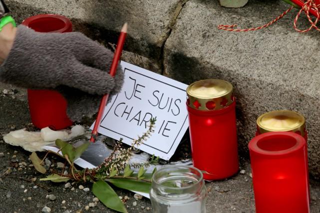 Les artisans de Charlie Hebdo qui ont perdu la vie, mercredi matin,... (Photo AP)