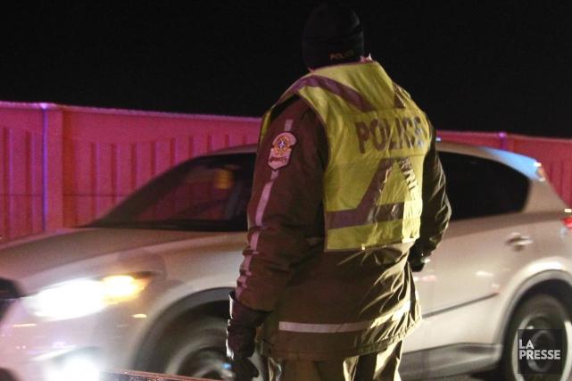 Les policiers de la SQ de Drummond ont procédé, dans la nuit de mardi à hier, à... (Archives La Presse)