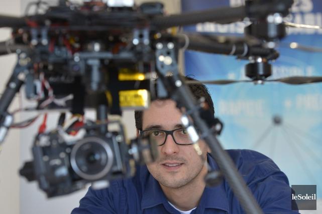 Johan Lassalle, fondateur de DroneXperts, a découvert un... (Photo Yan Doublet, Le Soleil)