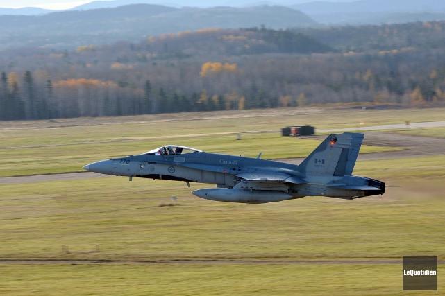 Depuis que le Canada s'est joint aux opérations... (Photo Rocket Lavoie, archives Le Quotidien)