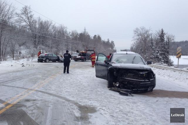 La collision frontale s'est produite en début d'après-midi,... (Patrick Woodbury, LeDroit)