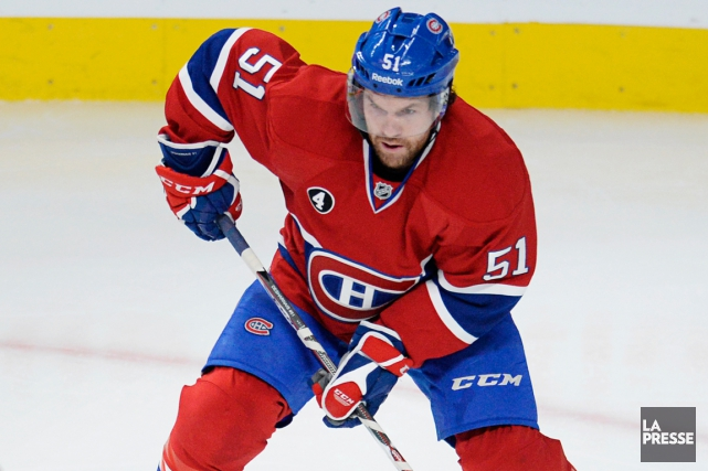 David Desharnais a récolté 184 points en 297 matchs... (Photo Bernard Brault, La Presse)