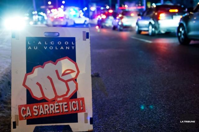 L'offensive des corps de police contre l'alcool au volant baptisé «Vaccin» a... (Archives La Tribune, Jessica Garneau)
