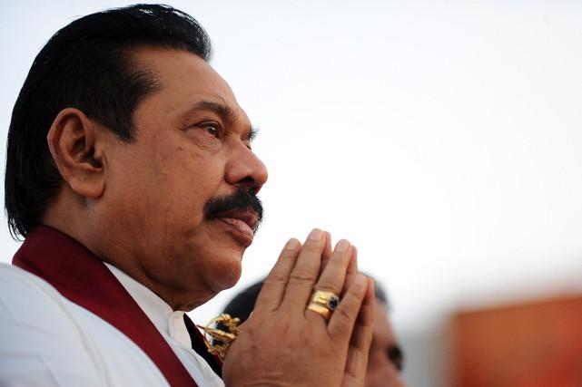 Le président sortant du Sri Lanka, Mahinda Rajapakse... (Photo Ishara S.KODIKARA, AFP)