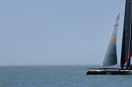 Un catamaran.... (Photo AP)
