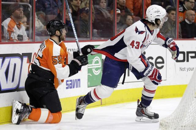 Jakub Voracek a touché la cible après 1:28 de jeu en prolongation et les Flyers... (Photo AP)