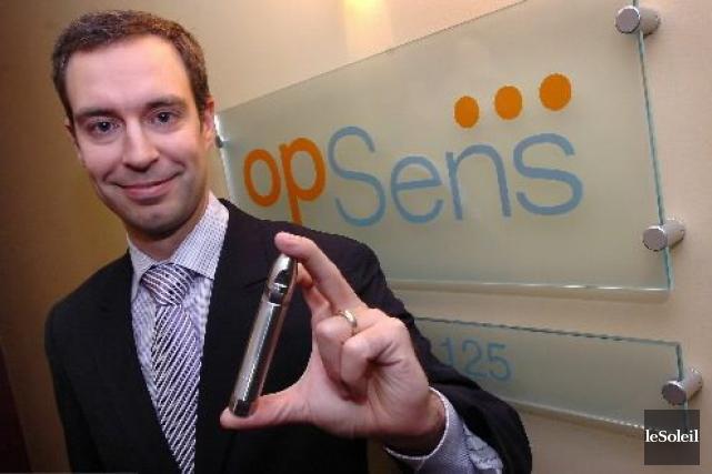 Le chef de la direction financière d'Opsens, Louis... (Photothèque Le Soleil, Jean-Marie Villeneuve)