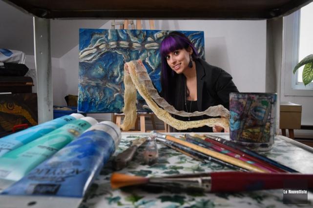 La Trifluvienne Sophie Guillemette crée des oeuvres uniques... (Photo: François Gervais, Le Nouvelliste)