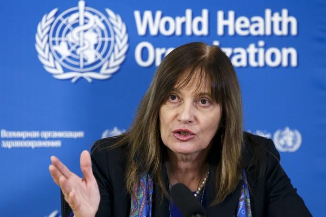 Ladirectrice générale adjointe de l'OMS, la docteure Marie... (Photo Salvatore Di Nolfi, AP)