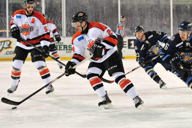 Christian Ouellet a participé à une page d'histoire de la ECHL dimanche... (Courtoisie)