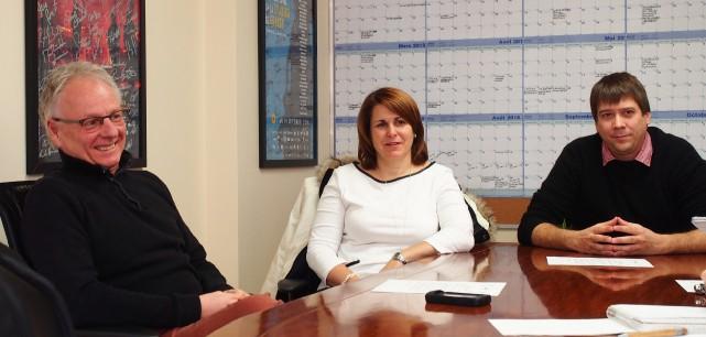 Le directeur général du FICG, Pierre Fortier, Valérie... (Alain Dion)