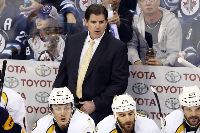 L'entraîneur des Predators de Nashville, Peter Laviolette.... (Photo Bruce Fedyck, archives USA Today Sports)