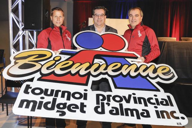 Le président du Tournoi midget d'Alma, Yannick Tremblay,... ((Photo Gimmy Desbiens))