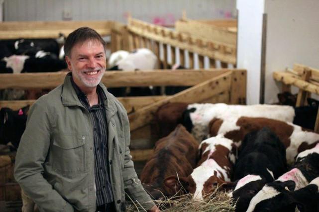 Jean Robert Audet, fondateur de Veau Charlevoix, poursuivra... (Photo fournie par Écolait Ltée)