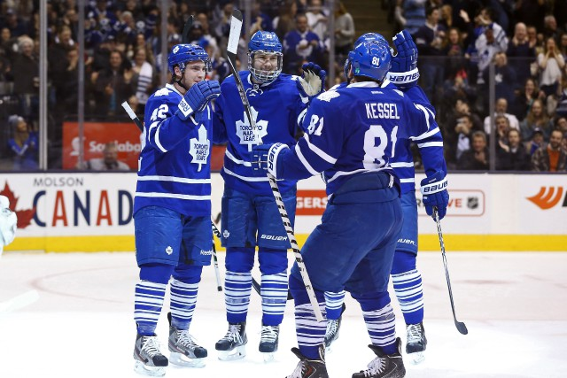 Les Maple Leafs (22-17-3) ont commis moins d'erreurs... (Photo Tom Szczerbowski, USA Today Sports)