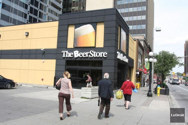 Auparavant, le Beer Store avait le quasi-monopole des... (Patrick Woodbury, Archives LeDroit)