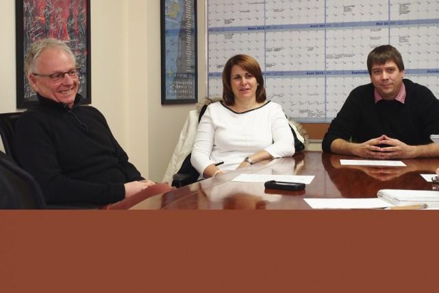 Le directeur général du FICG, Pierre Fortier, Valérie... (photo Alain Dion)