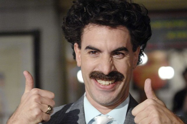 Sacha Baron Cohen dans le rôle de Borat.... (Photo archives Reuters)