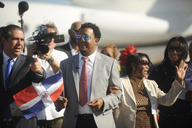 Pedro Martinez à son arrivée à l'aéroport de... (Photo Ricardo Rojas, Reuters)