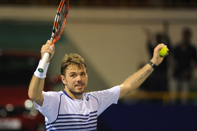Stanislas Wawrinka... (PHOTO AGENCE FRANCE-PRESSE)