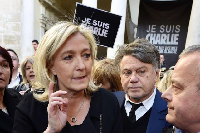 Marine Le Pen a été acclamée par un... (PHOTO PASCAL GUYOT, AFP)