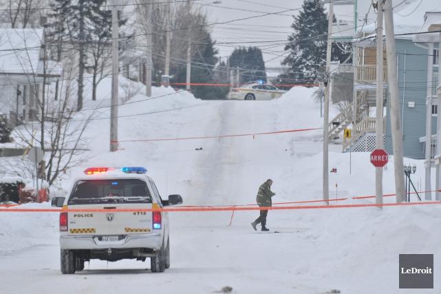 Après la découverte d'explosifs sur la rue Giroux... (Photo: Émilie O'Connor, Le Droit)