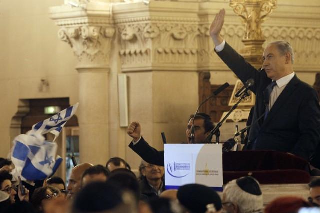 Le Premier ministre israélien Benyamin Nétanyahou, venu à... (Photo: AFP)
